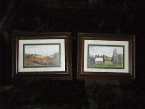 2 Watercolor Paintings By Saint John Artist  Mario Brideau