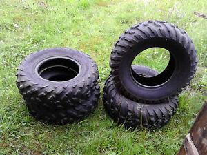 4 Dunlop  KT181  TIRES   for  ATV,   Fit a 12 inch rim