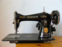 Vintage Singer Sewing machine with accessories
