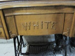 """""""Whites"""" Antique Sewing Table"""