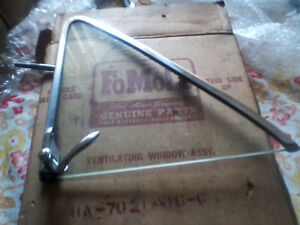 1950   1951 ford sedan NOS RH vent window with handle.