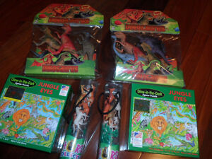 DINOSAUR FIGURES/GLOW IN THE DARK PUZZLE/HORSE FIGURE COLLECTION