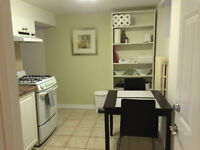 FURNISHED BASEMENT APT - UPPER BEACH