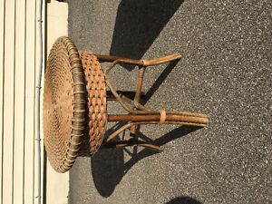 Cute wicker side table
