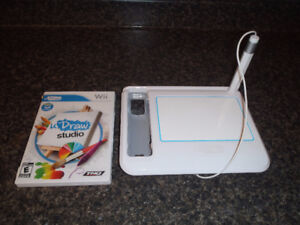 Original Wii -U Draw Tablet/game or Wii Fit Board w/games