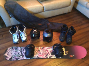 Snowboard complete package