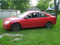 honda civic 2003 aut,en piece,$ a disc,514 234 9444