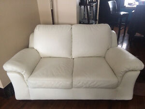 WHITE LEATHER COUCHES