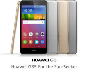 Unlocked Cell phone, Huawei GR5, 2 weeks old, with case, box