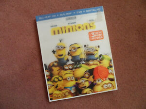 Minions movie on 3D Blu-ray combo (New and sealed)
