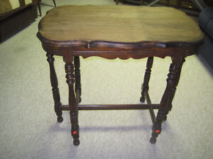 Antique Walnut Side Table (1930's)