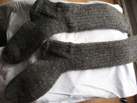 Hand Knit Mens Wool Socks for sale - Sz 10-11 - 1 pair/New Price