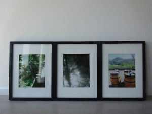Framed Wall Art, set of 3 (high resolution real photos printed)
