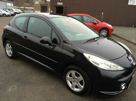 0707 Peugeot 207 1.4 16v 87 Sport Black 3 Door 69226mls MOT 12m