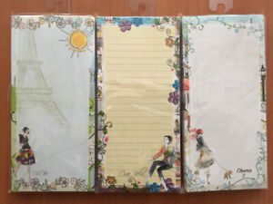 INKOLOGY WHIMSICAL GARDEN MEMO PADS Pack of 12 (697-8)