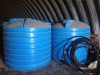 3 -1250gallon Hold on Industries Water Tanks
