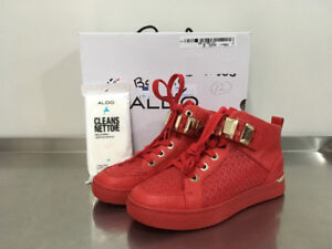 NEW Red Aldo High-top Sneakers
