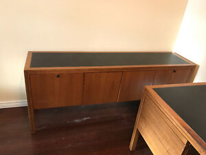 Solid Wood Desk and matching Credenza Cambridge Kitchener Area image 5