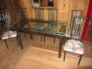 GlassTop Table and Chairs