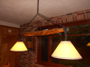 Antique Wooden Light Fixture