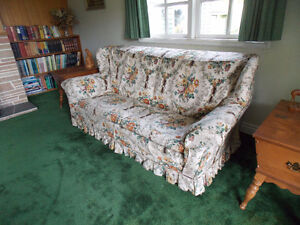 vintage wing back sofa