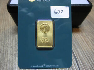 10 gram .9999 Pure Gold Perth Mint sealed bullion bar