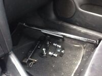 Hidden Hitch tow assembly and hitch for mk4 Jetta Golf