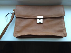 Picard Jet2001 brown leather clutch purse (West Germany)
