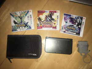 'new' 3dsXL with case and games.
