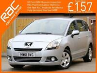 2011 Peugeot 5008 1.6 HDI Turbo Diesel 6 Speed 7 Seater MPV Bluetooth Parking Se