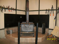 Wood stove & installation kit for sale