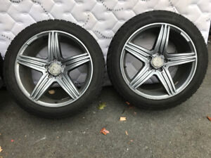 Like new - winter tires and rims 5x112, 225/50R18