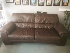 Brown leather 2 seat sofa. Really comfortable