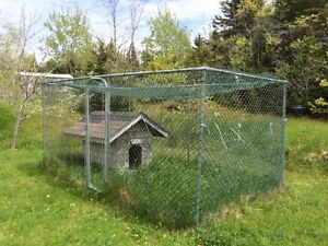 Fenced in dog house / dog kennel