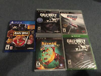 *NEUF* ANGRY BIRDS (PS4), COD GHOSTS (PS3), RAYMAN LEGENDS (PS3)