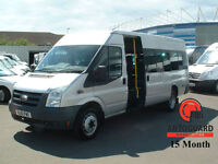 2011 FORD TRANSIT MINI BUS 2.4L 115ps DIESEL SILVER T430 16S RWD (LWB)