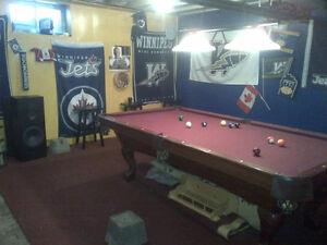 Brunswick pool table 4x8