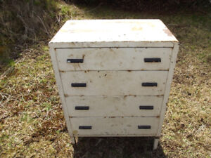 VINTAGE HEAVY DUTY MECHANIC'S STEEL CHEST OF DRAWERS