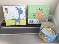 Next pictures and light shade boys bedroom/nursery