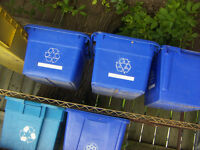 "Blue Boxes for Recycling [ 18"" x 14"" x 13""h ] 2 for $15.00..."