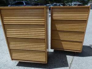 2 Beauty Blonde 4 Drawer Retro 'Ash'Wood Dressers Swedish Style