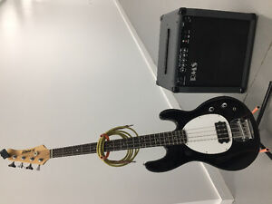 Slammer 4 String Bass with RMS Bass Amp, Fender Tuner and Cord