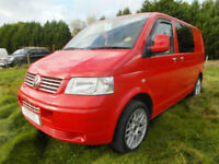 VW T5 - 6 Seatbelts - Rock and Roll Bed - Alloys - Cab Air-Conditioning