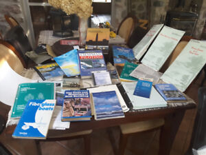 Boating  collection of charts and books