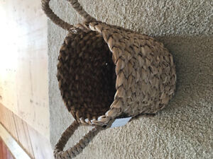 Wicker basket from Pottery Barn. Tags still attached