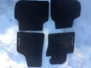 Set of 4 rubber floor mats.  Will fit a 2011 VW Jetta and newer