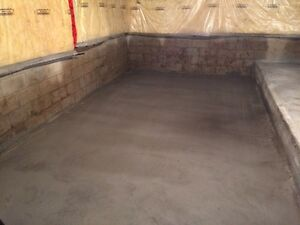 Cement pad basement cheap rates!