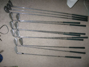 12 Spalding Golf Clubs-Left Hand Swing-Used