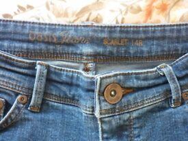 Oasis jeans size 14R ladies X2 pairs