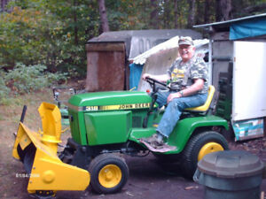 318 john deere lawn tractor deed or alive sault ste marie  two s